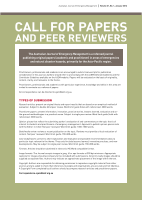 Thumbnail of Call for papers and peer reviewers
