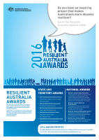 Thumbnail of 2016 Resilient Australia Awards