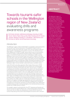 Thumbnail of Towards tsunami-safer schools in the Wellington...