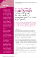 Thumbnail of An assessment of the opportunities to improve s...