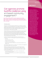 Bigger Thumbnail of Can agencies promote bushfire resilience using ...