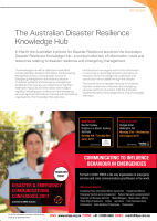 Thumbnail of The Australian Disaster Resilience Knowledge Hub