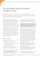 Thumbnail of The Australian Natural Disaster Resilience Index