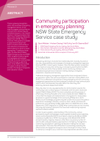 Thumbnail of Community participation in emergency planning: ...