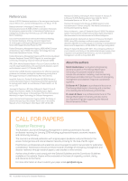 Thumbnail of Call for papers: Disaster recovery