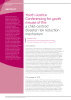 Thumbnail of Youth Justice Conferencing for youth misuse of ...