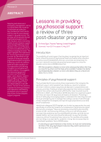Thumbnail of Lessons in providing psychosocial support: a re...