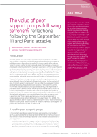Thumbnail of The value of peer support groups following terr...