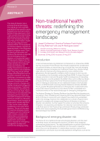 Thumbnail of Non-traditional health threats: redefining the ...