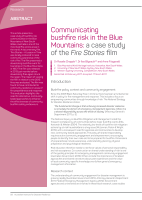 Thumbnail of Communicating bushfire risk in the Blue Mountai...