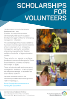 Thumbnail of Scholarships for volunteers