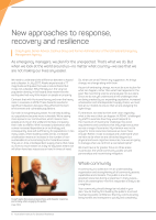 Thumbnail of New approaches to response, recovery and resili...