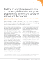 Thumbnail of Building an animal-ready community: a community...