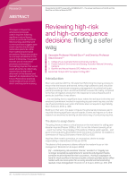 Thumbnail of Reviewing high-risk and high-consequence decisi...