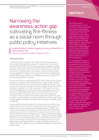 Thumbnail of Narrowing the awareness-action gap: cultivating...