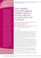 Thumbnail of From research outcome to agency change: mapping...