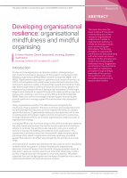 Thumbnail of Developing organisational resilience: organisat...