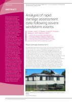 Thumbnail of Analysis of rapid damage assessment data follow...